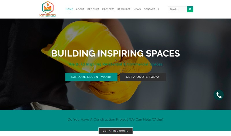 Website development for panel manufacturer