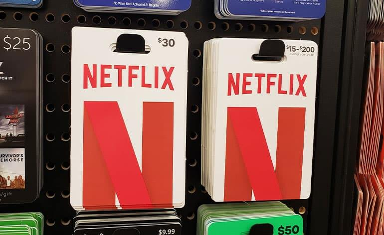 How to buy Netflix gift cards